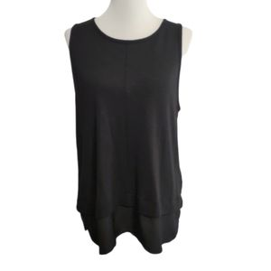 J. Crew| Tank Black Blouse Faux-Layer Sleeveless